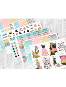 Shopaholic // Ec, Hp & Big Happy Planner Stickers   Black Friday Weekly Sticker Kit   Erin Condren Planner Stickers   Diary Stickers by Etsy