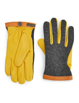hestra-leather-wool-tricot-gloves by arket