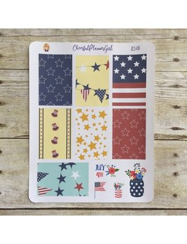Stars And Stripes Weekly Layout For Big Hp Planner Stickers F526 by Etsy