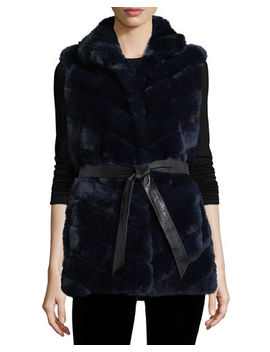 Rabbit Fur Reversible Down Jacket by Gorski