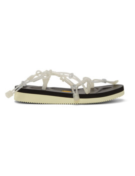 Ssense Exclusive Black & White Suicoke Edition Tube Sandals by Fumito Ganryu
