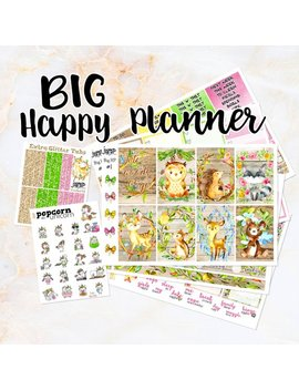 Into The Woods Fall Autumn Set Kit Weekly Stickers   For Big Happy Planner   Woodland Critters Forest Floral by Etsy