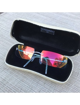 Rare Authentic Chanel Rectangle Mirror Sunglasses by Chanel