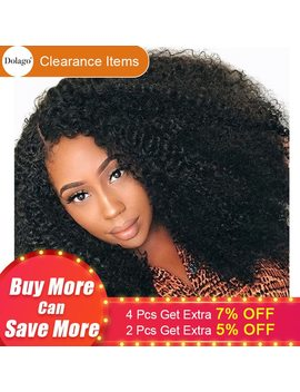 Afro Kinky Curly Lace Front Wig With Baby Hair Short Bob Human Hair Wigs For Women Brazilian Frontal Wig Black Virgin 150 Percents Dolago by Dolago