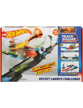 Track Builder Rocket Launch Challenge Play Set   Orange/Black/Blue/Gray by Hot Wheels