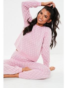 Pink Female Sign Lounge Set by Missguided