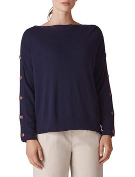 Button Sleeve Sweater by Whistles