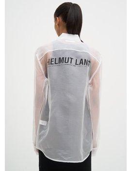 Helmut Lang Silk Logo Shirt   White by Garmentory