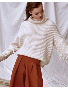 Line The Label Frances Sweater   Ivory by Garmentory