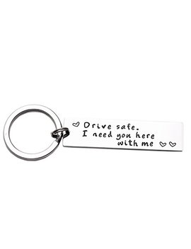 Drive Safe Keychain I Need You Here With Me Trucker Husband Gift For Husband Dad Gift Valentines Day Stocking Stuffer by L Parkin