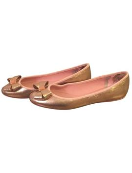 Rose Gold Bow Ballet Flats by Ted Baker