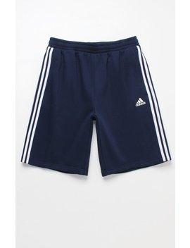 Adidas 3 Stripe Sweat Shorts by Pacsun