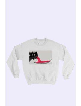 Unisex Hunk Promethazine Sweatshirt   White by Garmentory