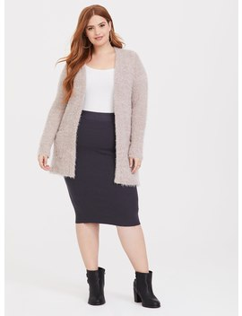 Charcoal Grey Ribbed Sweater Skirt by Torrid