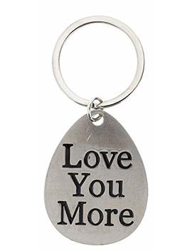 This Wear Boyfriend Girlfriend Gifts Anniversary Love You More Metal Pendant Keychain Key Tag by This Wear