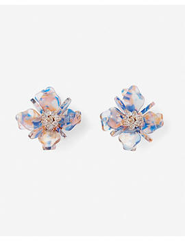 Resin Flower Statement Earrings by Express