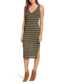 Stripe Knit Tank Dress by All In Favor