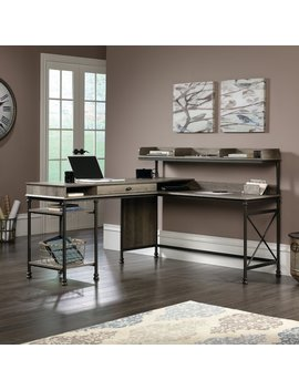Three Posts Oakside L Shape Computer Desk With Hutch & Reviews by Three Posts