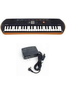 Casio Sa76 44 Keys 100 Tones Keyboard Bundle With Casio Power Supply by Casio