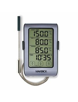 Maverick Dual Sensor Oven Roasting Digital Thermometer/Timer Thermometer For Oven, Grill, And Smoker With Dual Sensor Grey/Black by Maverick