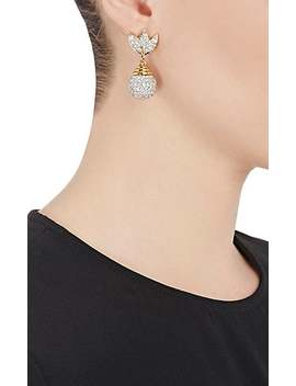 Diamanté Embellished Drop Earrings by Stazia Loren