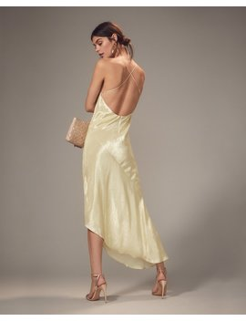 Goldie Champagne Asymmetrical Gown by Haney