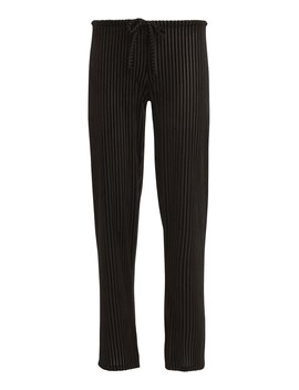Velvet Ribbed Drawstring Pants by Only Hearts