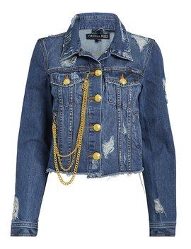Cara Chain Detail Denim Jacket by Veronica Beard