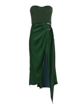 Strapless Bustier Asymmetric Dress by Jonathan Simkhai