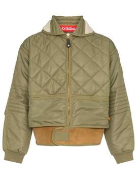 Cosmo Shearling Collar Quilted Bomber Jacket by 032 C