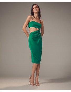 Selena Cutout Emerald Midi Dress by Misha