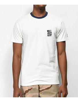 Vans X Independent Checkered Cream & Navy T Shirt by Vans
