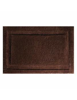 "Inter Design Microfiber Spa Bathroom Accent Rug, 34"" X 21"" Inches, Chocolate by Inter Design"