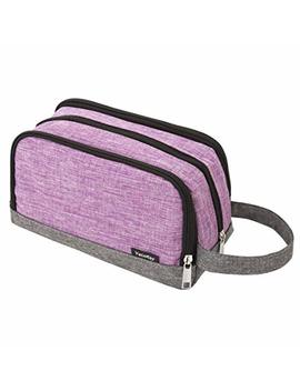 Girls Toiletry Bag, Yeiotsy Color Clash Durable Small Toiletry Kit Bag For Kids Outdoor Activities (Purple) by Yeiotsy