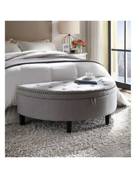 Kelly Gray Linen Storage Ottoman by Pier1 Imports