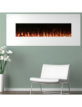 White Wall Mounted Electric Fireplaces Color Changing Led Flame With Remote by Pier1 Imports