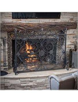 Fleur Silver & Black Fireplace Screen by Pier1 Imports