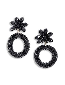 Full Flourish Flower Hoop Clip On Earrings by Kate Spade New York