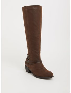 Dark Brown Boot With Counter Detail (Wide Width & Wide Calf) by Torrid