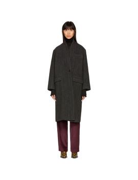 Black Henlo Coat by Isabel Marant Etoile