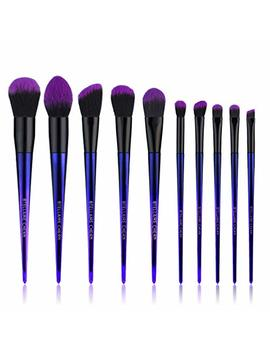 Stellaire Chern Makeup Brush Set, 10 Pcs Premium Synthetic Cosmetic Brushes, Foundation Blending Blush Powder Eye Shadow Make Up Brushes Kit... by Stellaire Chern
