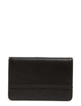 Ruby Pebbled Leather Cardholder by Nordstrom