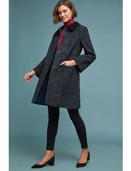 Velvet Collared Coat by Helene Berman London
