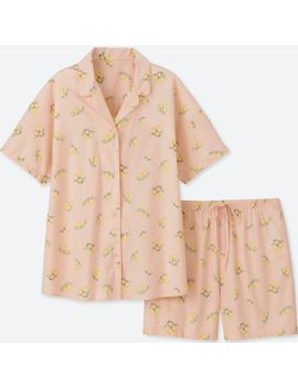 Women Cotton Stretch Pajamas (Short Sleeve) by Uniqlo