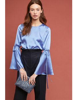Bell Sleeved Satin Blouse by Hutch