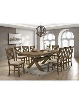 Raven Wood Dining Set: Butterfly Leaf Table, Eight Chairs by Generic