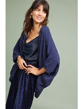 Ana Embroidered Cocoon Kimono by Anthropologie