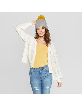 Women's Fuzzy Boyfriend Cardigan   Almost Famous (Juniors') Ivory by Almost Famous