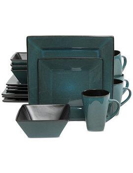 Kiesling Teal 16 Pc. Dinnerware Set by Gibson