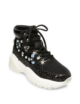 Abel Floral Platform Dad Sneaker Booties by Betsey Johnson